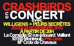 seratones,comedia,peurs secrètes,willigens,crashbirds,komiks kronik,pop music rock : philippe daufouy + jean-pierre sarton